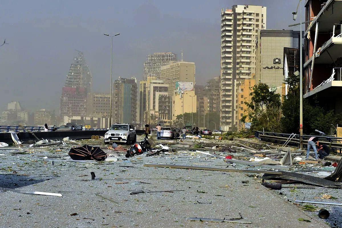 لبنان دھماکہ، تصویر یو این آئی