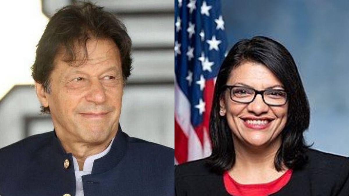 عمران خان اور راشدہ طالب، تصویر گیٹی و وکی پیڈیا
