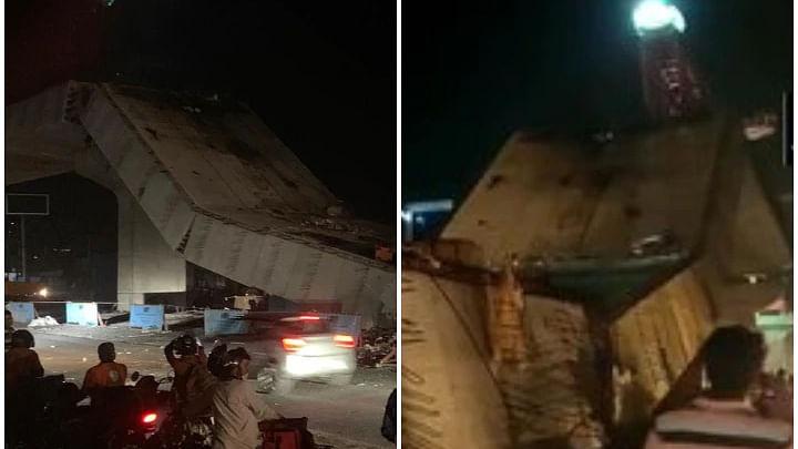 گڑگاؤں: سوہنا روڈ پر زیر تعمیر فلائی اوور کا ایک حصہ منہدم، دو مزدور زخمی