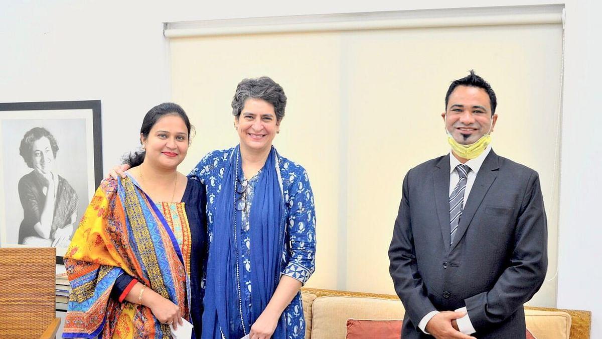 ڈاکٹر کفیل خان اور ان کی بیوی نے پرینکا گاندھی سے کی ملاقات
