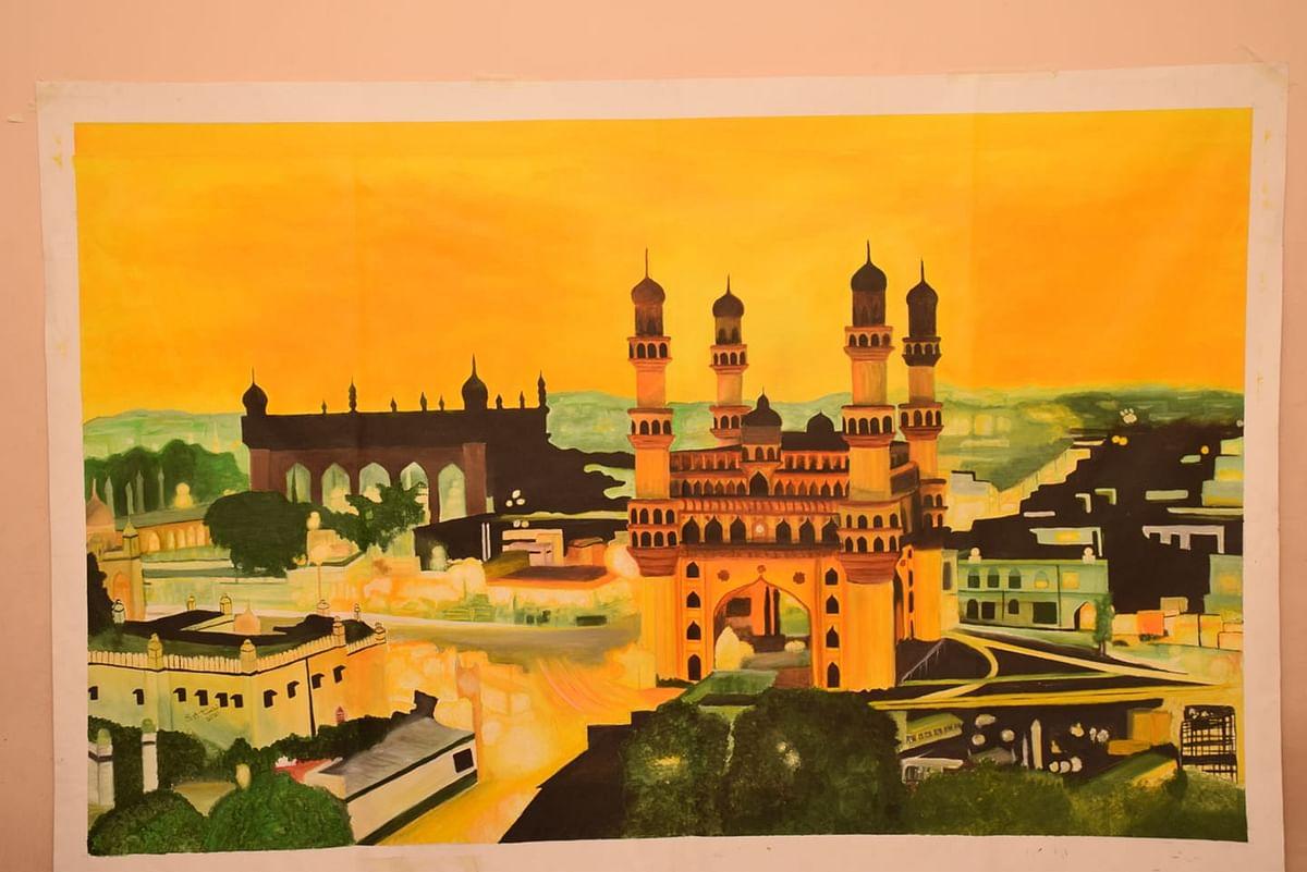 حیدرآباد سے نکل کر انگلستان تک پہنچے سیدہ اشنہ ترابی کی مصوری کے چرچے