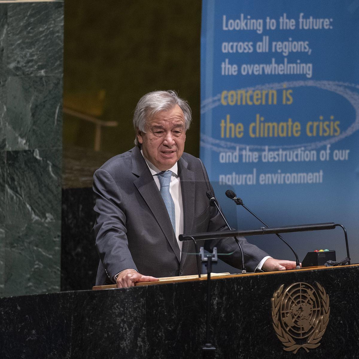 اقوام متحدہ کے سکریٹری جنرل انتونیو گوٹریس/ یو این آئی