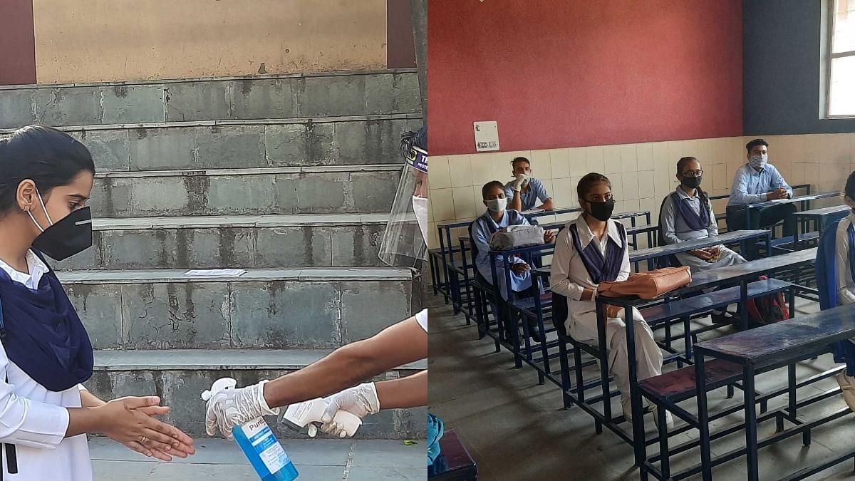 جموں و کشمیر: کورونا وائرس کے سائے میں کھل گئے تعلیمی ادارے