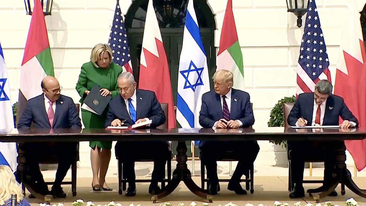امارات اور بحرین کے اسرائیل کے ساتھ امن معاہدوں پر دست خط، معمول کے تعلقات استوار