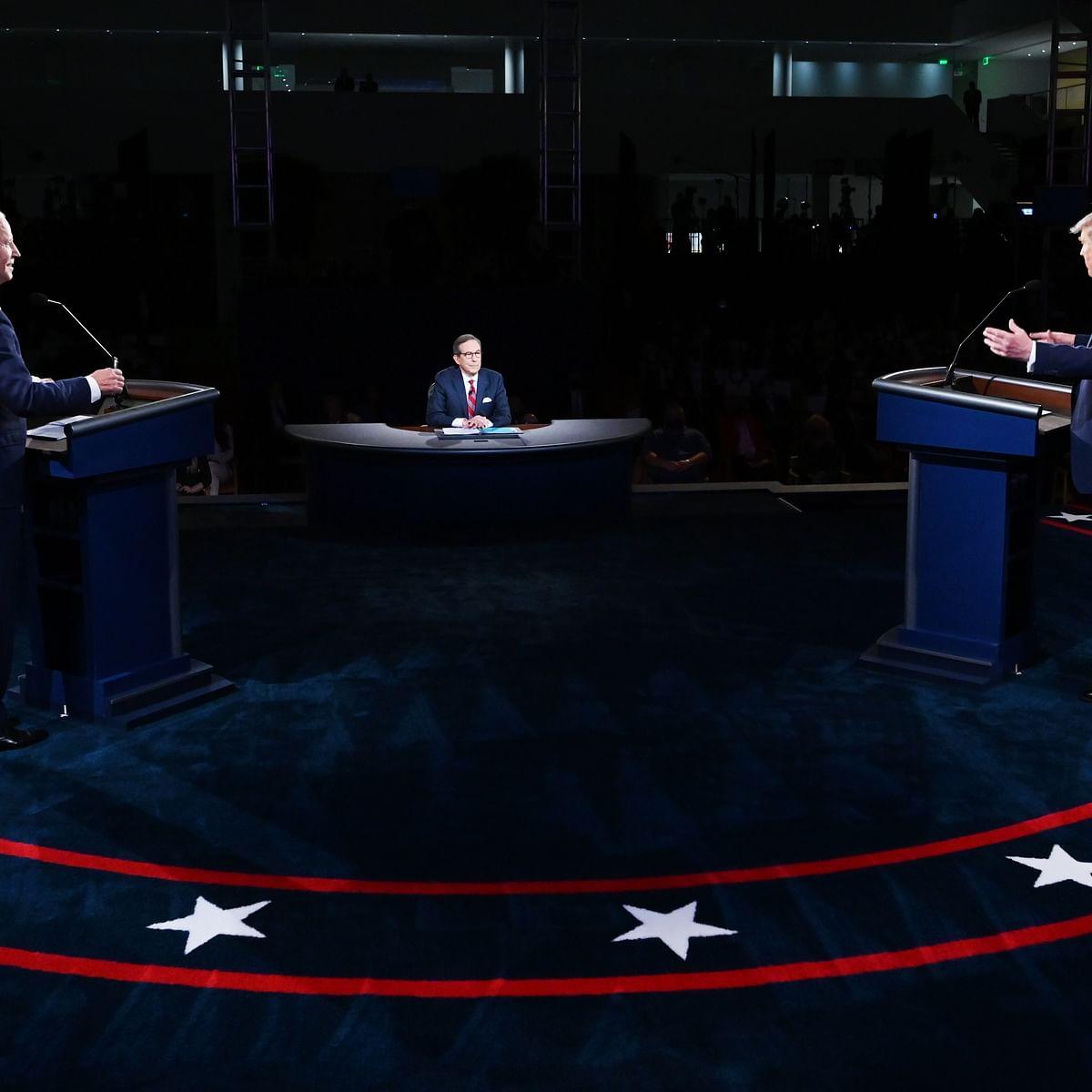 صدارتی بحث کے دوران ڈونلڈ ٹرمپ اور جو بائیڈن / Getty Images