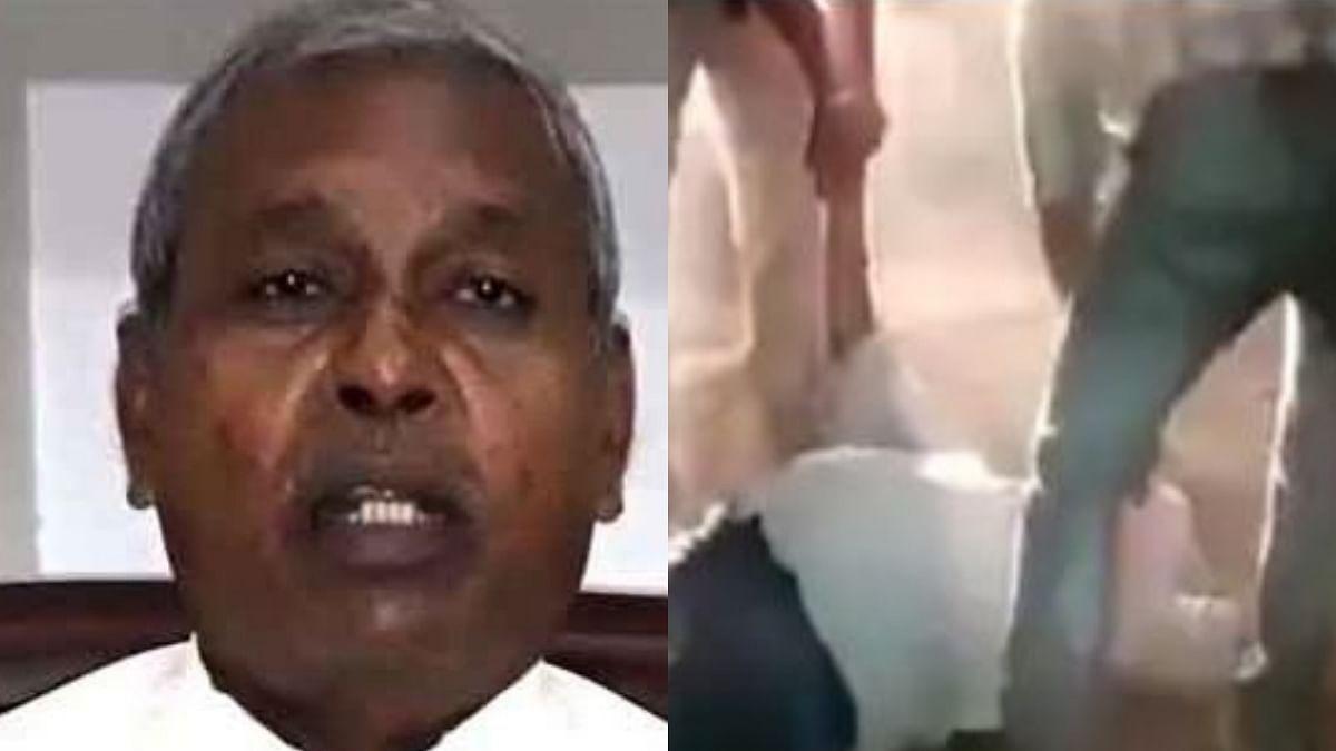 بی جے پی رکن اسمبلی رام سرن ورما، تصویر ویڈیو گریب