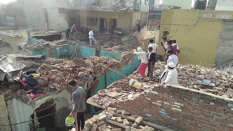 میرٹھ: سردھنا واقع ایک مکان میں زبردست دھماکہ، 2 افراد ہلاک، کئی گھروں کو نقصان!