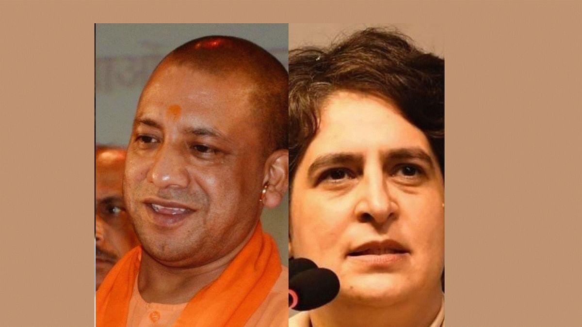 پرینکا گاندھی اور یوگی آدتیہ ناتھ، تصویر آئی اے این ایس