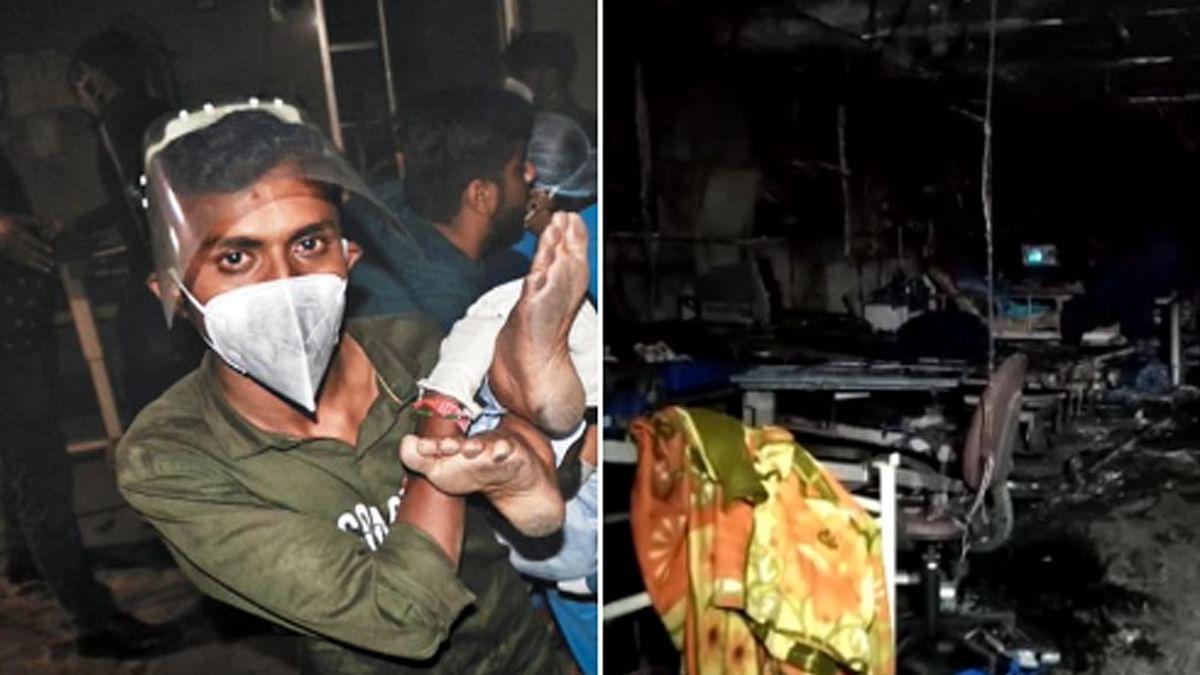 گجرات: کووڈ اسپتال کے 'آئی سی یو' میں آگ لگنے کا واقعہ، 5 مریض ہلاک