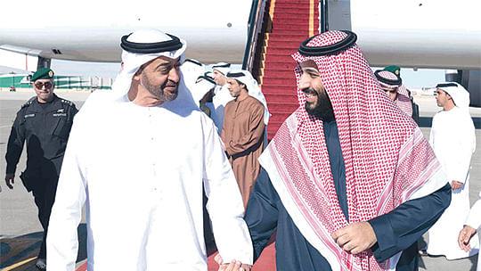 محمد بن سلمان اور محمد بن زاید، تصویر بشکریہ العربیہ