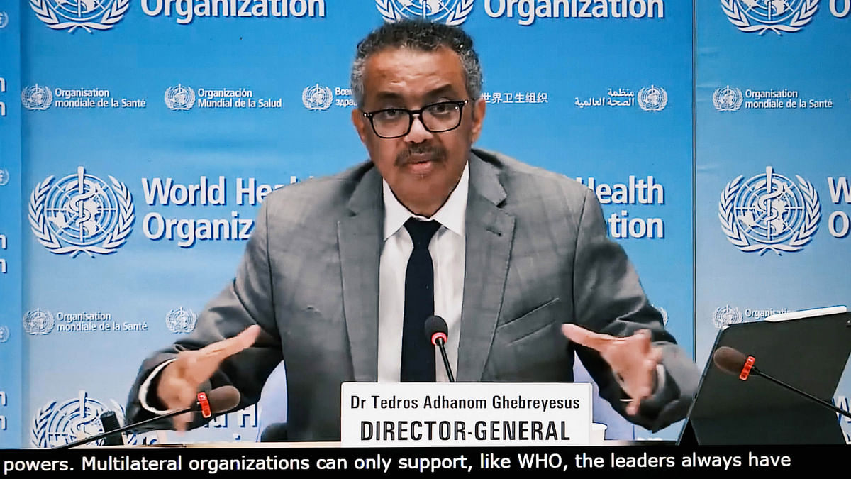 عالمی ادارہ صحت (ڈبلیو ایچ او) کے سربراہ ڈاکٹر ٹیڈروس ایڈہانوم / تصویر یو این آئی