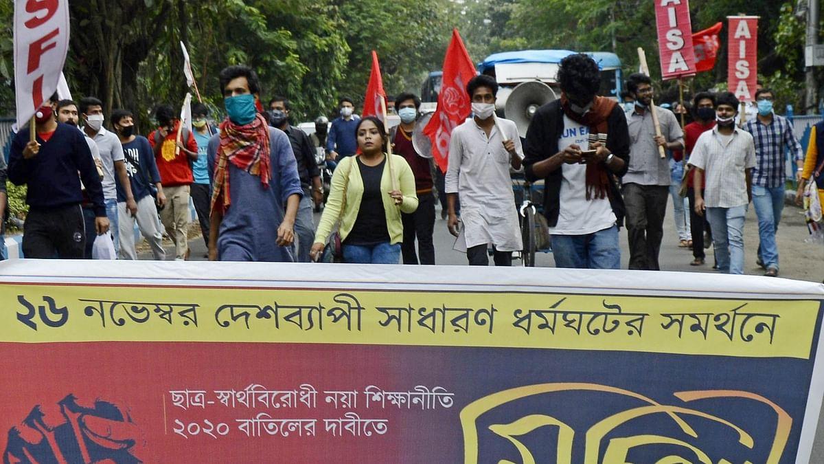 مغربی بنگال میں ہڑتال / تصویر آئی اے این ایس