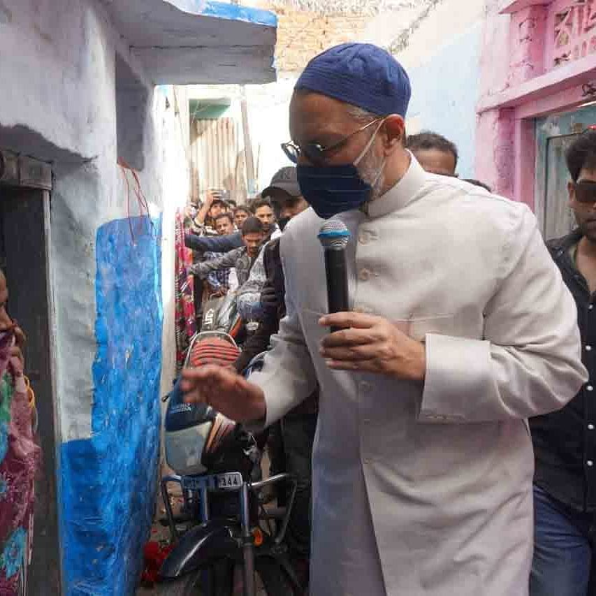 آل انڈیا مجلس اتحاد المسلمین کے سربراہ اسد الدین اویسی / تصویر آئی اے این ایس