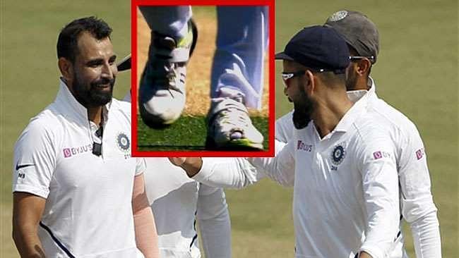 محمد شامی آسٹریلیا میں 'پھٹا ہوا جوتا' پہن کر گیندبازی کیوں کر رہے ہیں؟