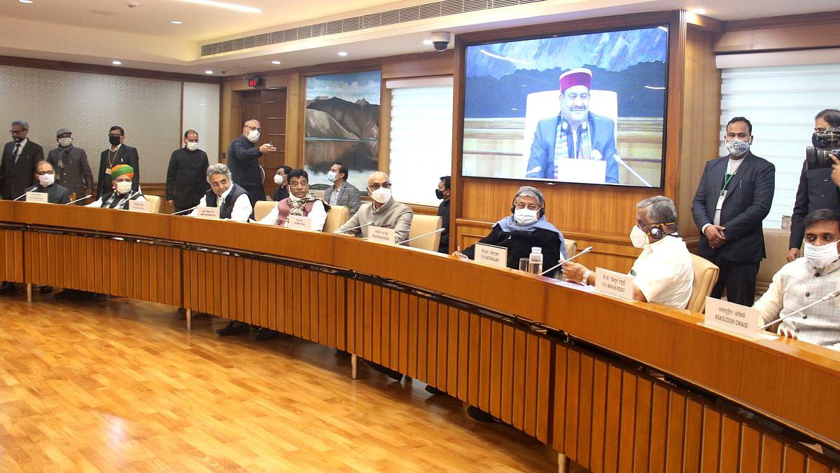 کل جماعتی میٹنگ میں اپوزیشن نے کسانوں کا معاملہ اٹھایا
