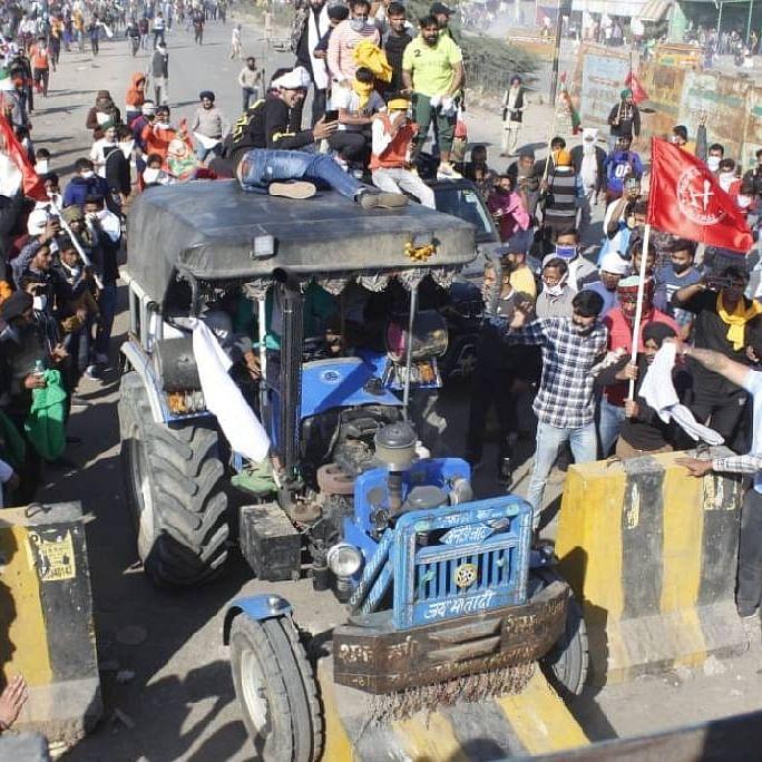 ٹریکٹر مارچ / تصویر آئی اے این ایس