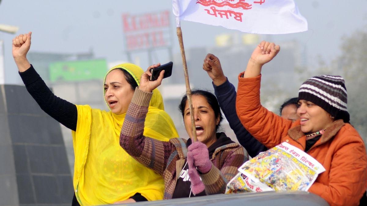 کسان تحریک کو حمایت کرتیں پنجاب کی خواتین / آئی اے این ایس