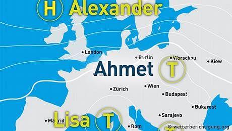 جرمنی میں موسمیاتی نظام کو 'احمد' کا نام دے دیا گیا