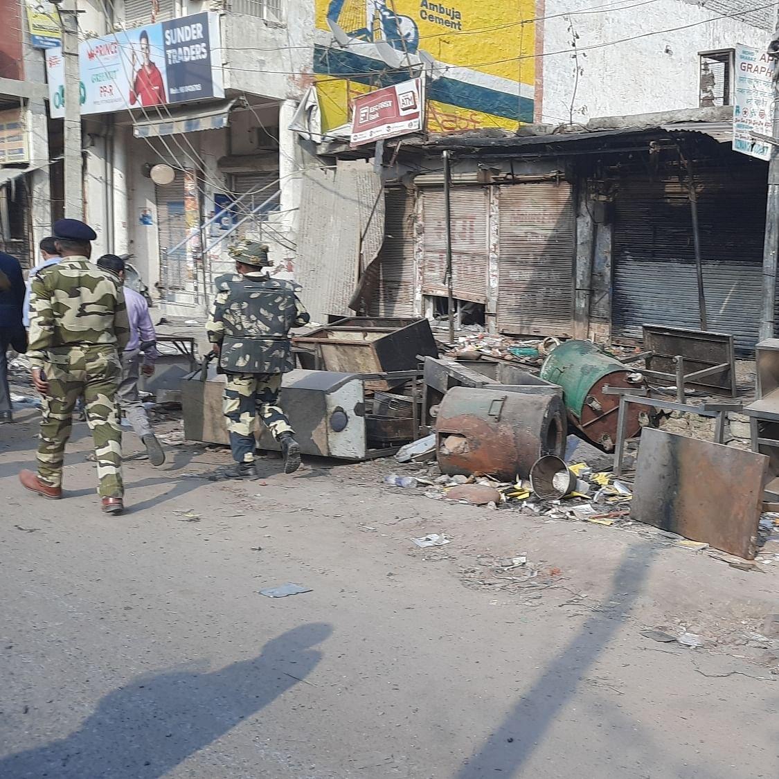 دہلی فساد کے بعد کی فائل تصویر