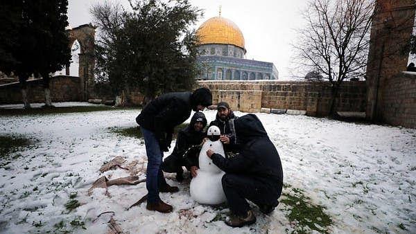 مقبوضہ یروشلیم میں برف باری