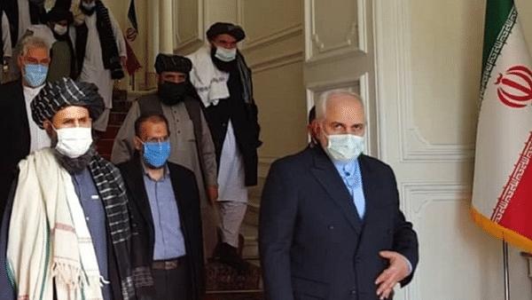 طالبانی وفد کی ایرانی وزیر خارجہ جواد ظریف سے ملاقات