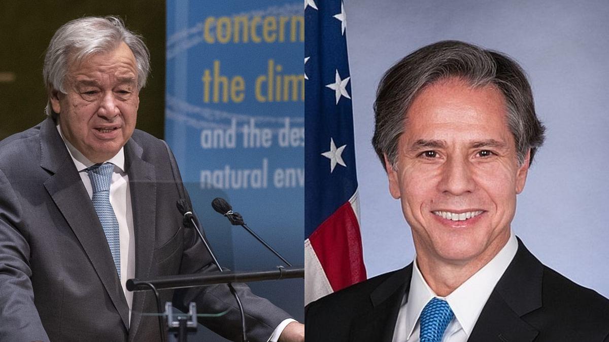 بلنکن، گوٹریس کے درمیان افغانستان، سیریا اور لیبیا پر مذاکرہ