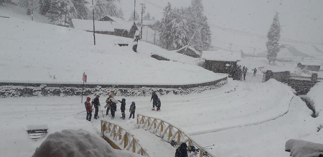 گلمرگ میں تازہ برف باری / آئی اے این ایس