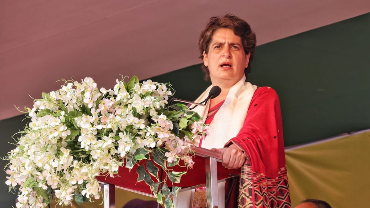 پرینکا گاندھی، تصویر @INCIndia