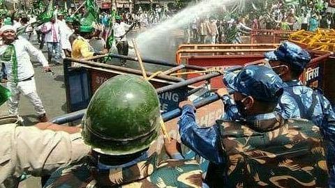 نتیش حکومت کے خلاف آر جے ڈی کے مظاہرہ میں ہنگامہ