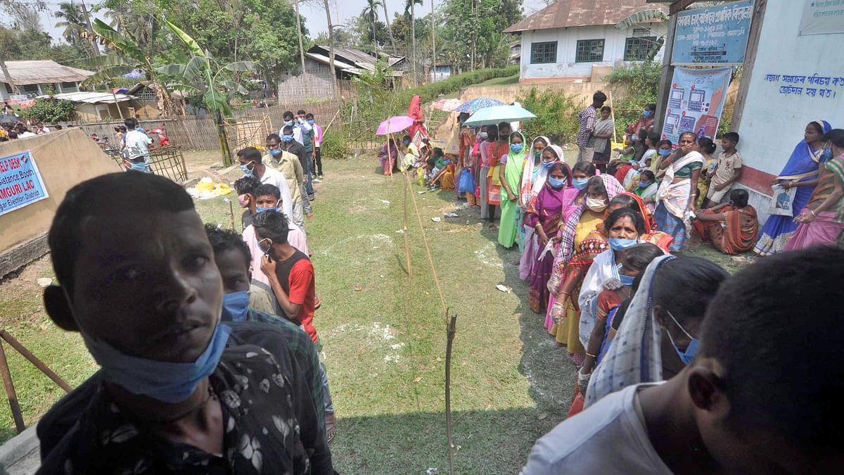 آسام اور بنگال میں اسمبلی انتخابات کے لئے دوسرے مرحلے کی ووٹنگ جاری