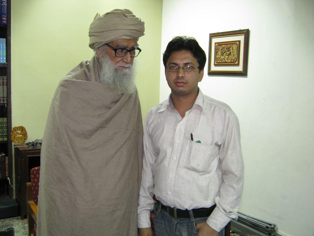 مولانا وحیدالدین خان کے ساتھ شاہ عمران حسن