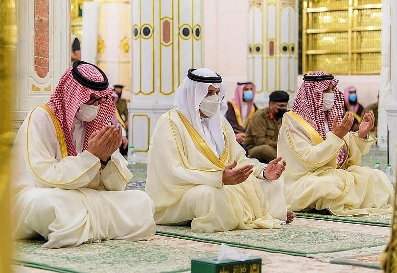 حرمین شریفین میں کورونا تدابیر کی پیروی کے ساتھ نماز عید کا روح پرور اجتماع