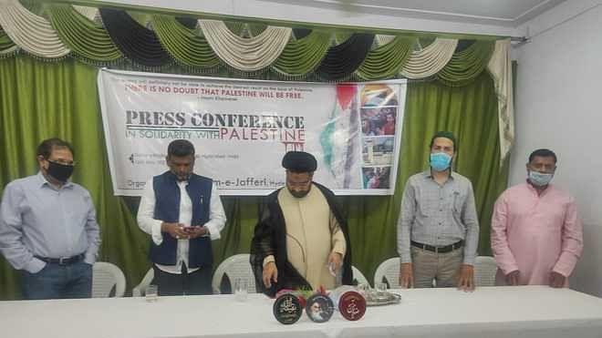 اسرائیل کی بنیاد ظلم و تشدد پر مبنی، پریس کانفرنس سے علما و صحافیوں کا خطاب