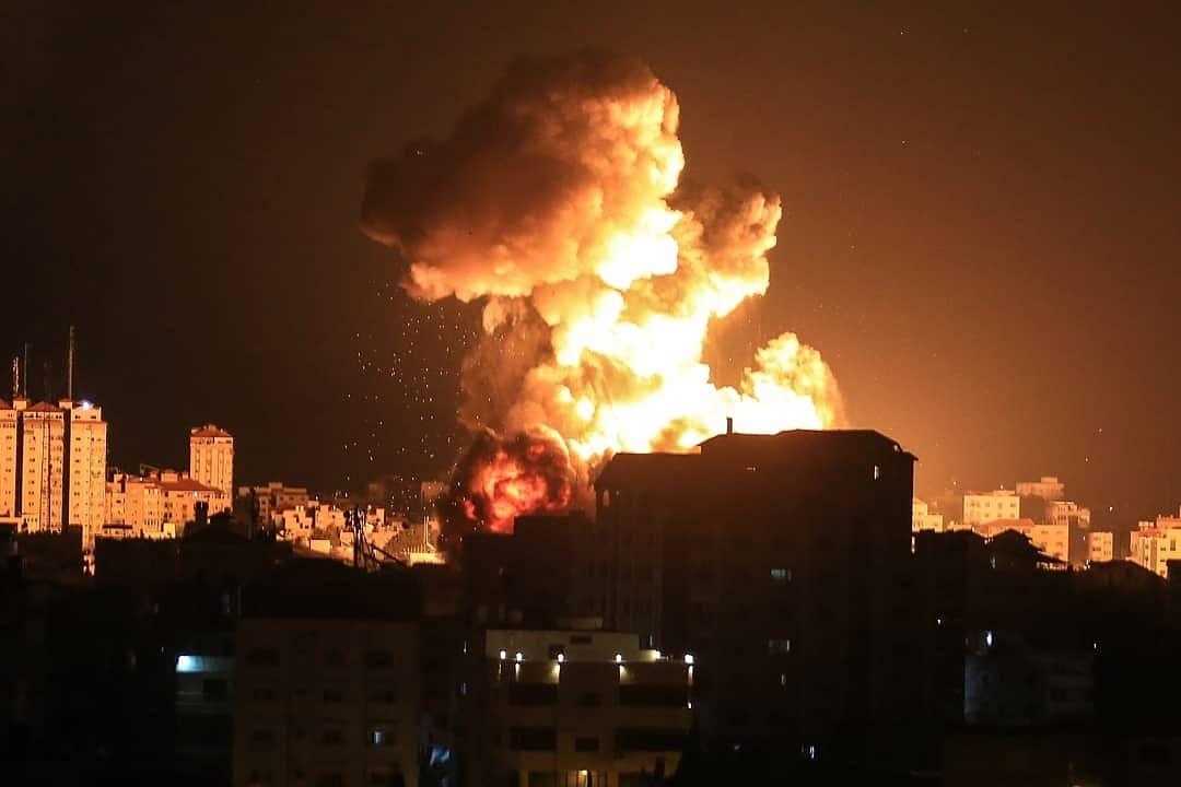 غزہ پر بمباری