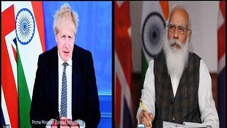 ہندوستان اور برطانیہ کے مابین متعدد معاہدوں پر دستخط