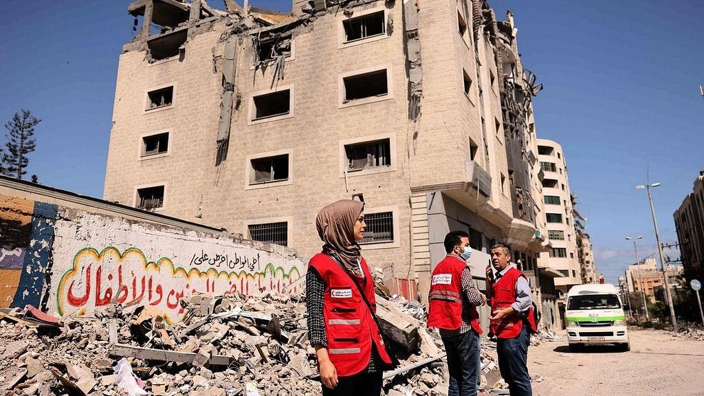 اسرائیل نے غزہ میں 'قطری ہلال احمر' کے دفتر کو نشانہ بنایا