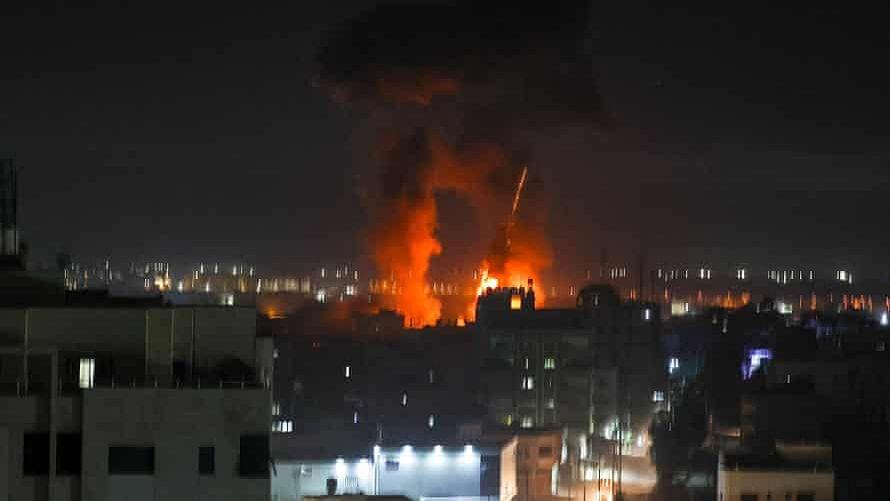 حماس کے ٹھکانوں پر اسرائیل کا فضائی حملہ