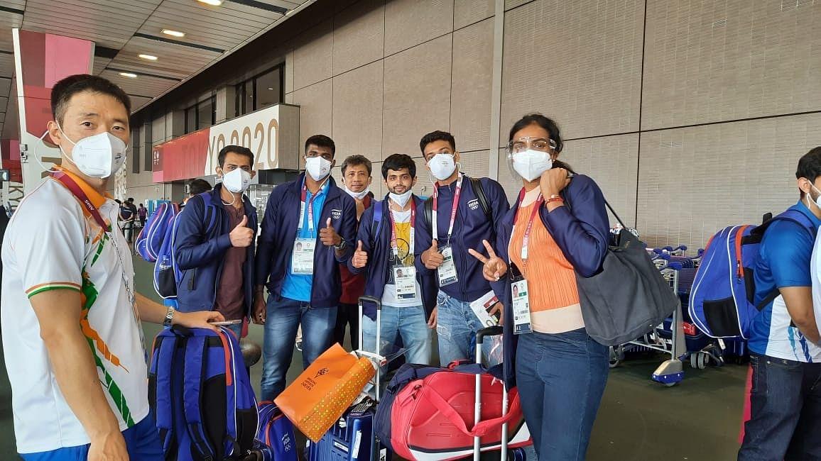 ٹوکیو پہنچا ہندوستانی اولمپک وفد