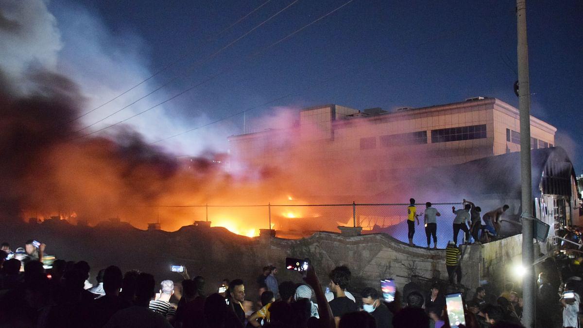 عراق: اسپتال کے کورونا وارڈ میں خوفناک آتشزدگی، 52 افراد جان بحق