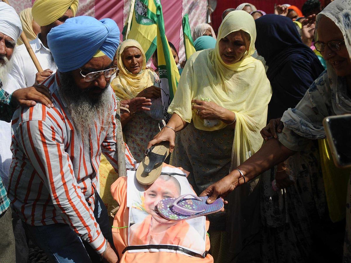 پنجاب میں کسان احتجاج کی فائل تصویر / Getty Images
