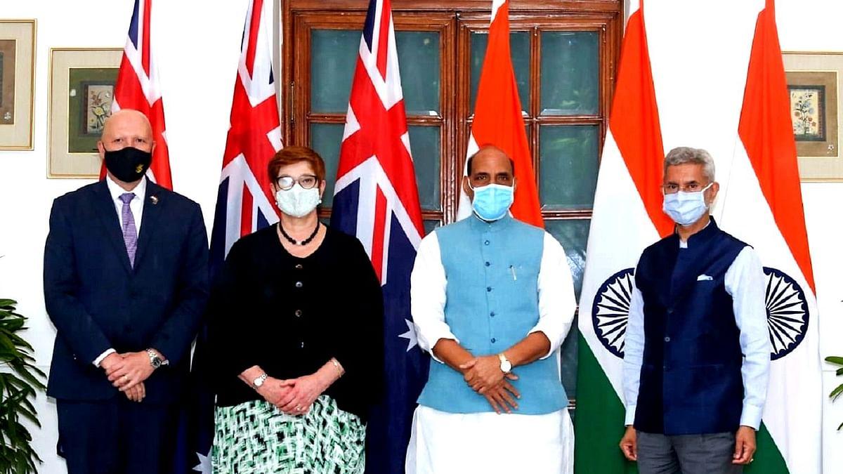 ٹو پلس ٹو میٹنگ: ہندوستان-آسٹریلیا نے علاقے میں تجارت کے آزاد بہاؤ پر زور دیا