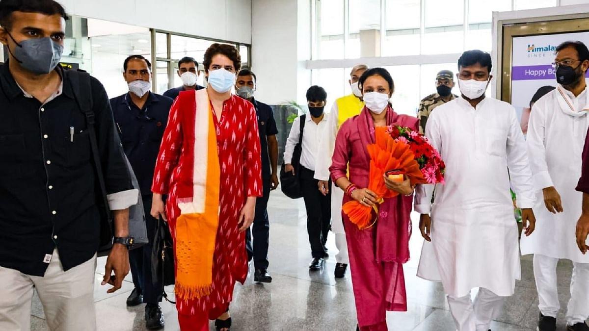 کانگریس جنرل سکریٹری پرینکا گاندھی پہنچیں لکھنؤ، کل سے شروع ہوگا میٹنگوں کا دور