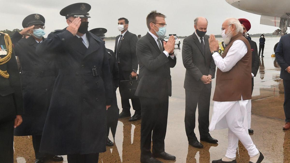 وزیر اعظم مودی کا امریکہ پہنچنے پر شاندار استقبال