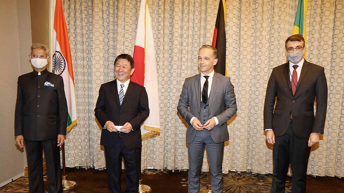 مرکزی وزیر خارجہ ڈاکٹر ایس جے شنکر کی جی-20 اور جی-4 کے اراکین سے ملاقات