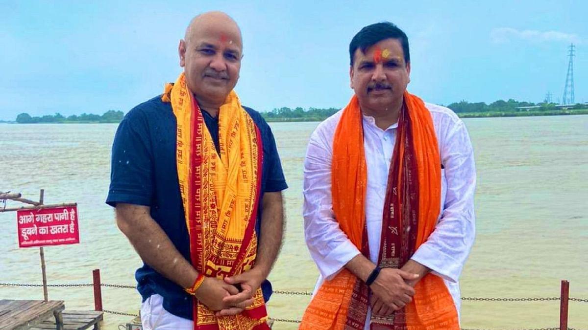 ایودھیا پہنچ کر دہلی کے نائب وزیر اعلیٰ منیش سسودیا نے بھی کہی 'رام راج' کی بات