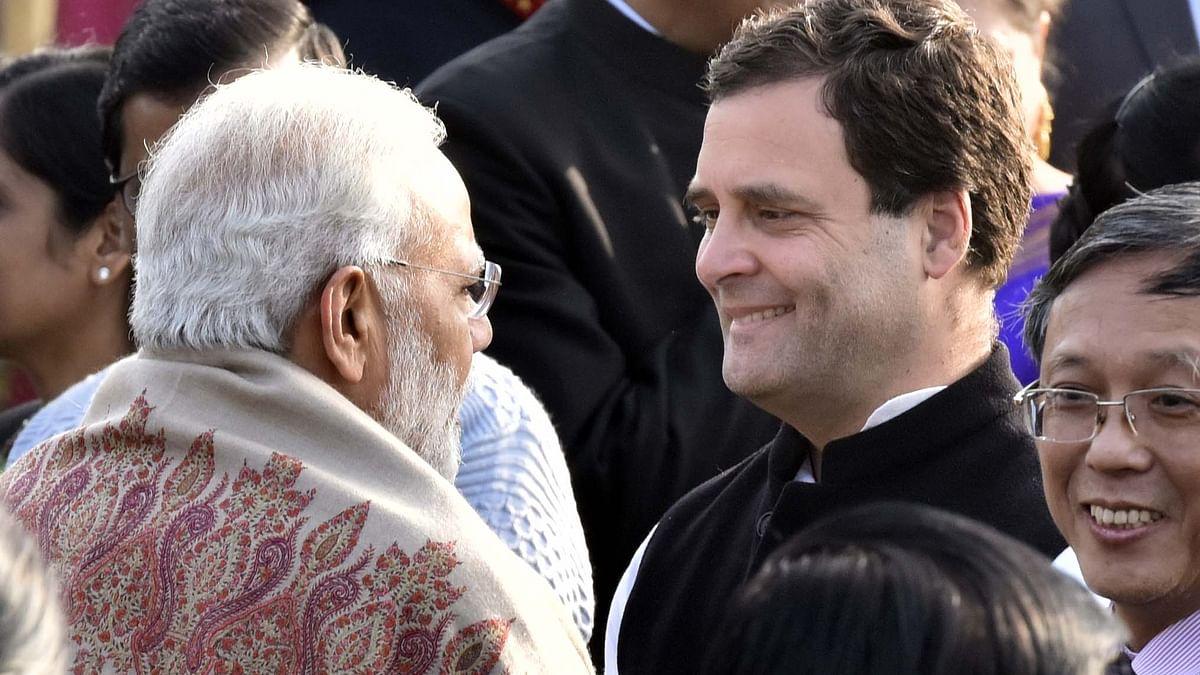 راہل گاندھی اور وزیر اعظم نریندر مودی کی ملاقات کی فائل تصویر / Getty Images