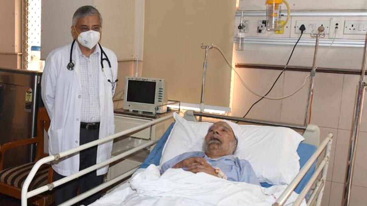 منموہن سنگھ ایمس اسپتال زیر علاج، تصویر یو این آئی