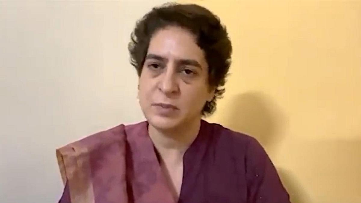 پرینکا گاندھی / ویڈیو گریب