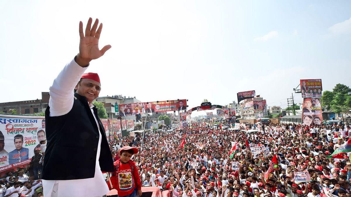 ایک طرف اکھلیش یادو نے نکالی 'وجے رتھ یاترا'، اور دوسری طرف چچا شیوپال نے 'سماجی تبدیلی یاترا'