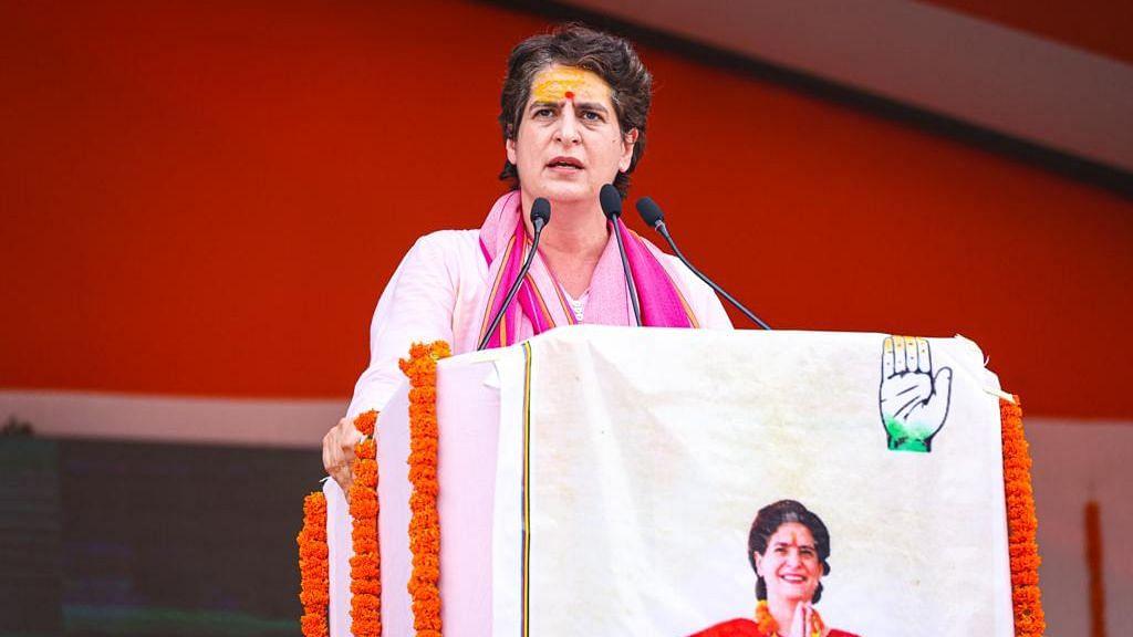 پرینکا گاندھی، تصویر @INCUttarPradesh